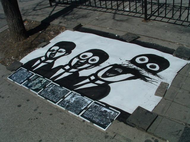 Seen on the sidewalk: Queen Street West in Toronto.